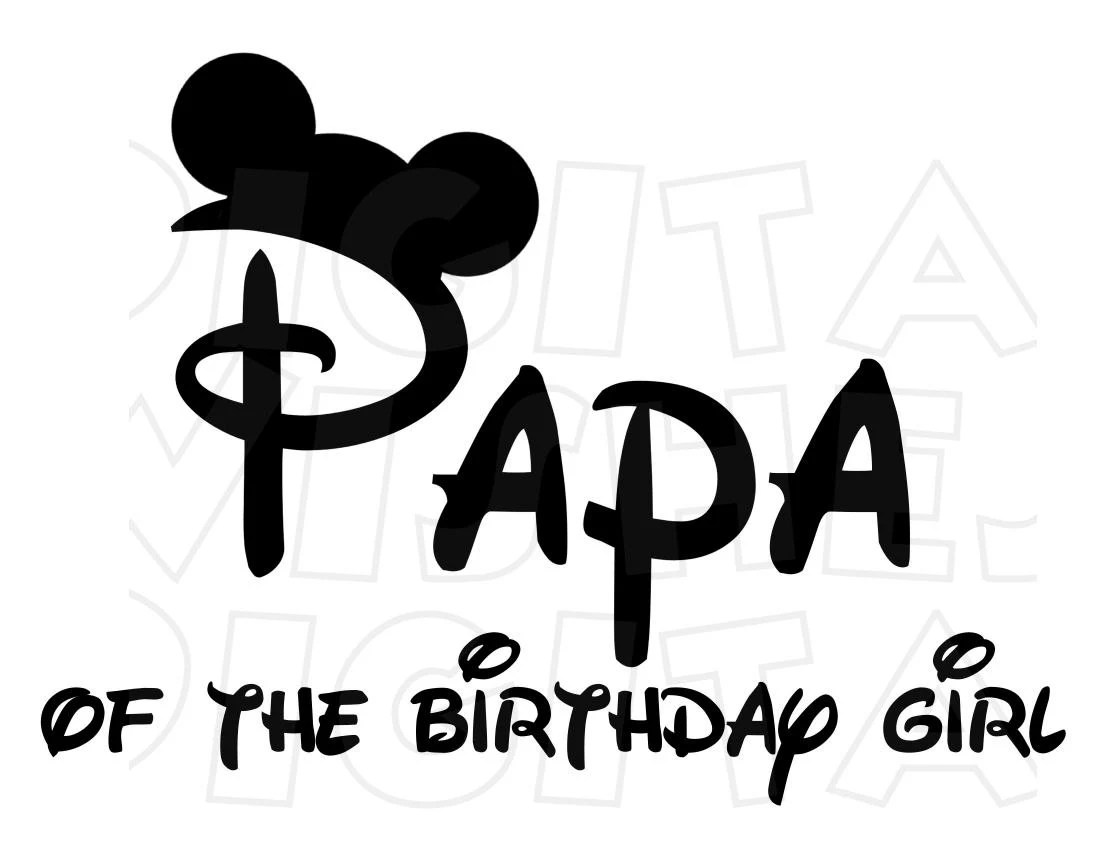 Minnie Mickey Mouse Ears Papa Of The Birthday Girl Digital