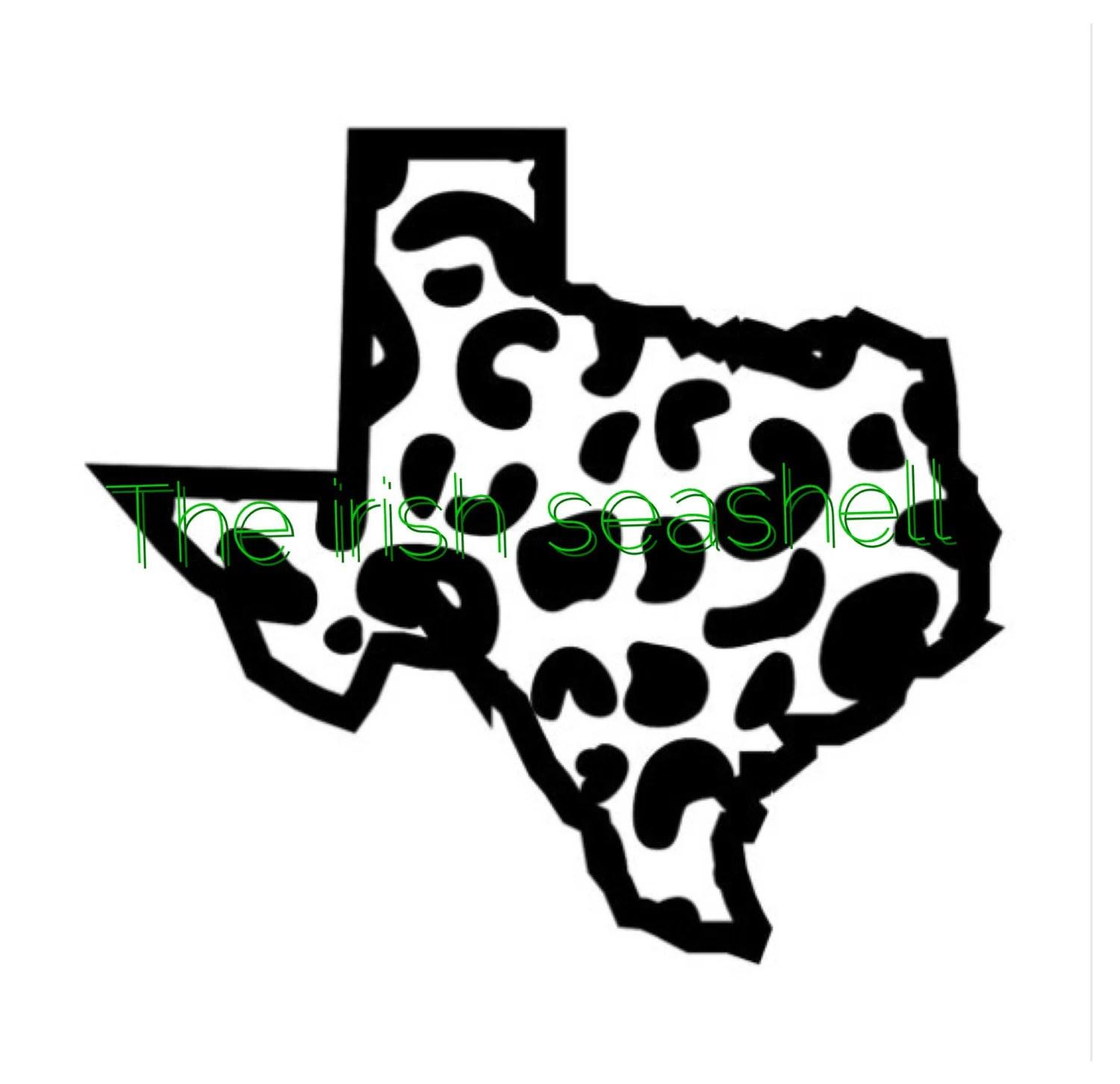 Texas Cheetah Leopard Jaguar Print Svg Dxf File