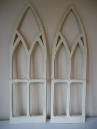 Wood Floral Supplies Cathedral Window Frames set of 2 Flower