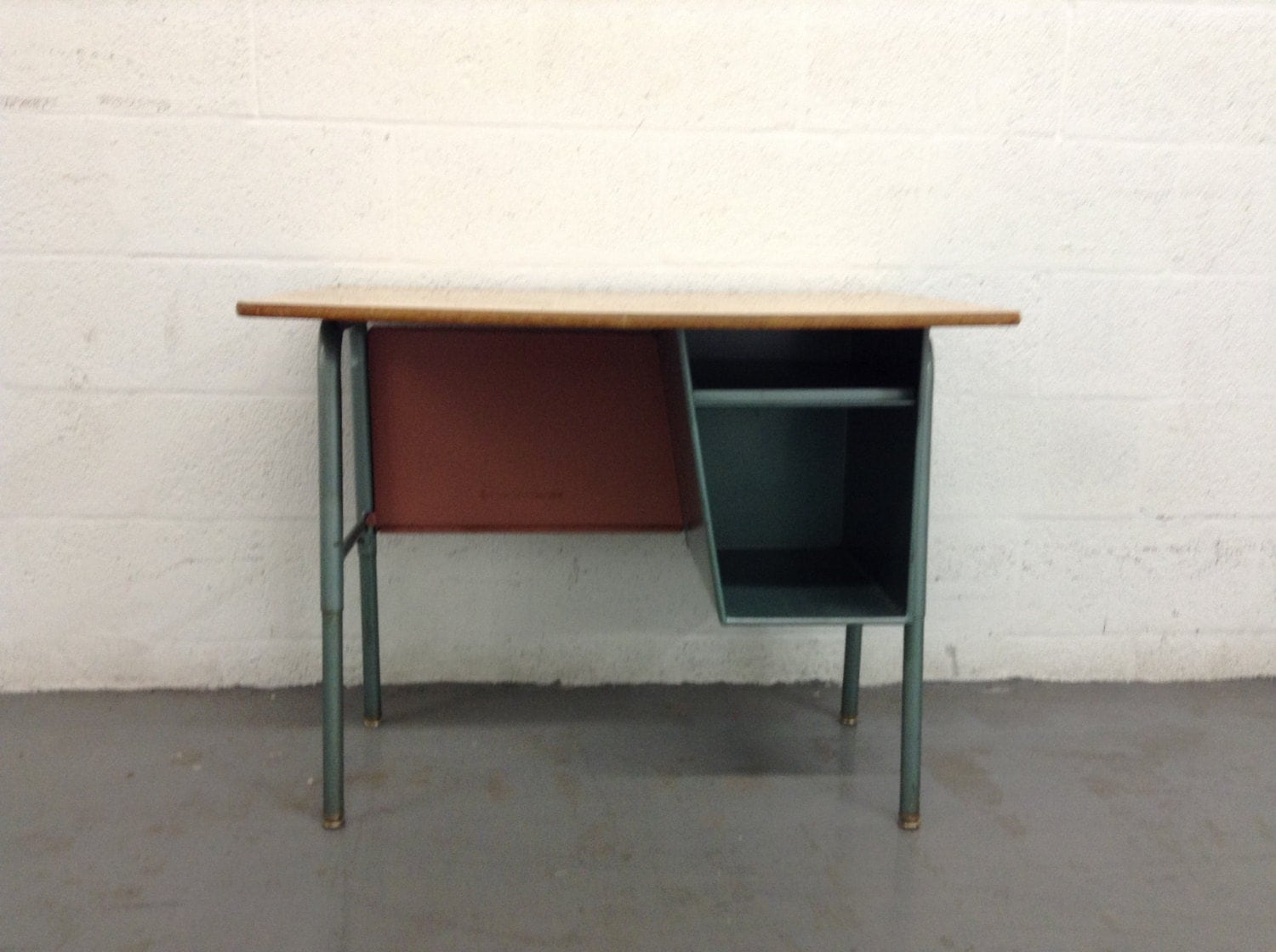 Vintage Industrial Metal And Formica Top Desk Office Furniture Haute Juice