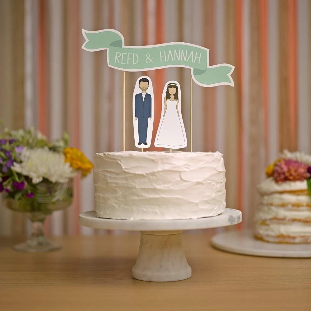 Wedding Cake Topper Custom Names Cake Topper Banner No 2
