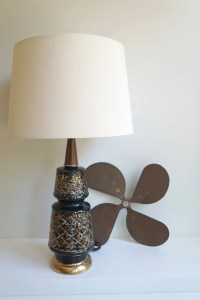 Black Gold Midcentury Modern Table Lamp w/ by RefugeHomeGoods
