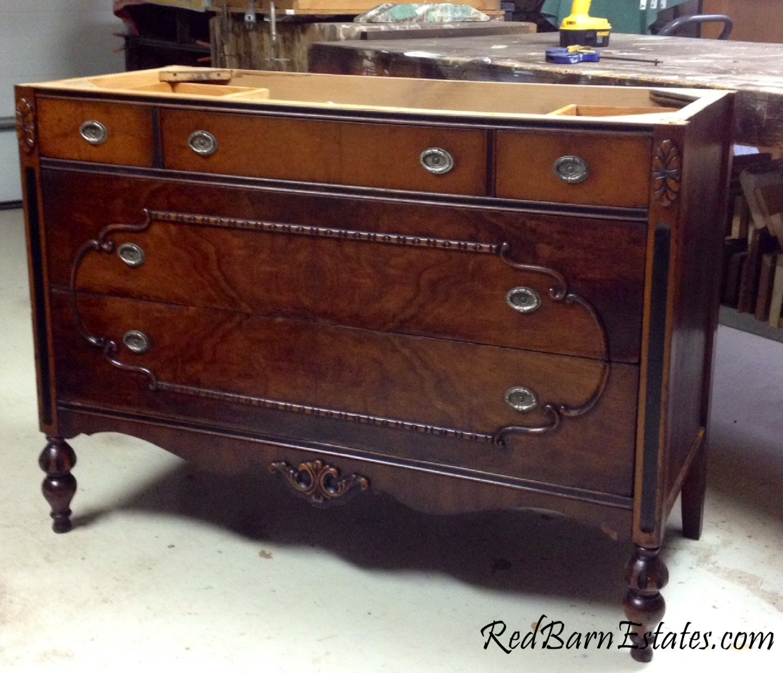 ORDER A Custom Antique Bath VANITY From Antique Wood Dresser