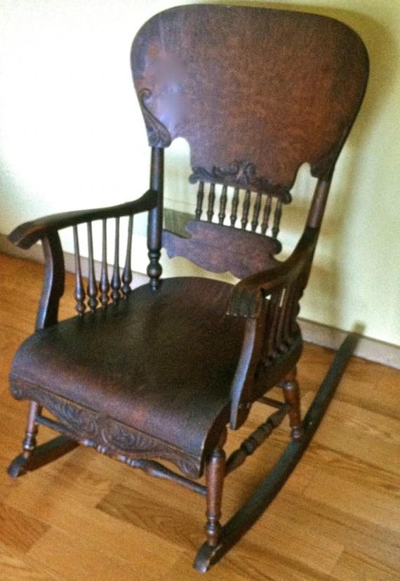 antique folding rocking chair white designer chairs victorian | furniture