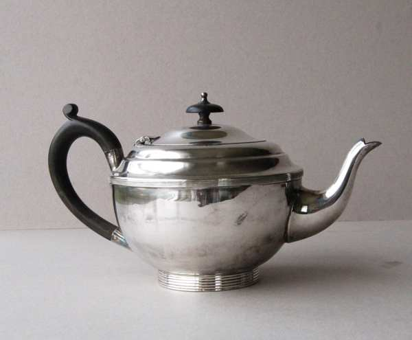 Art Deco Silver Plate Teapot Plated 1930s