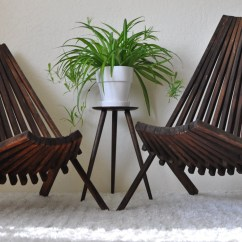 Low Outdoor Chairs Poang Chair Instructions Mid Century His And Hers Slatted Stick Folding Wood