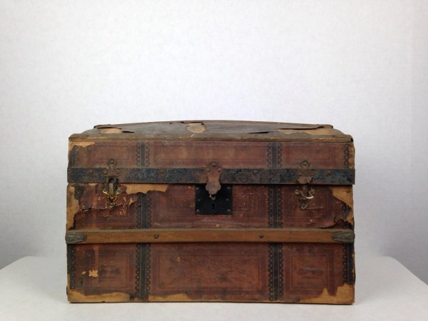 Reserved Joseph Antique Small Steamer Trunk Vintage Hump