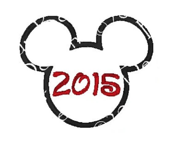 Items similar to Mickey Mouse Disney Head 2015 Embroidery