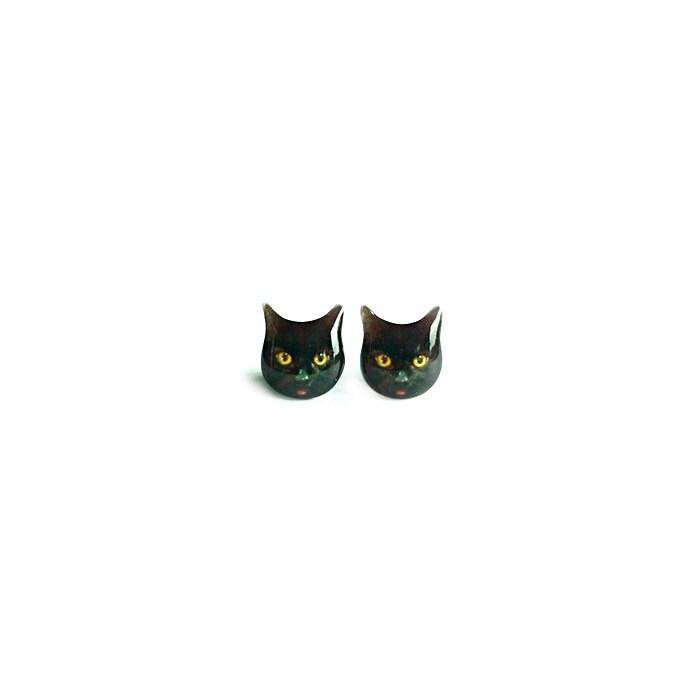 Black Cat Earrings Bombay Cat Post By 1224HandmadeCrafts