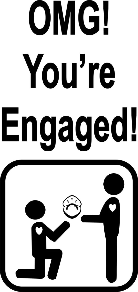 Gay Male 'OMG You're Engaged' greeting card for by