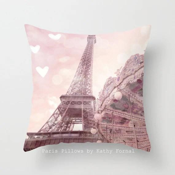 Eiffel Tower Carousel Pillow Paris Pillows Baby Girl Nursery