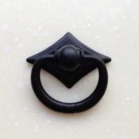 Black Vintage Dresser Drawer Pulls Handles Knobs Ring Drop