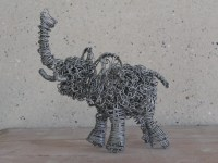 Metal Wire Art Wire Elephant Sculpture Contemporary