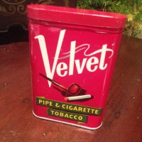 Vintage Velvet pipe and cigarette tobacco tin by VintageSowles
