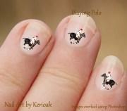 polo pony nail art equine