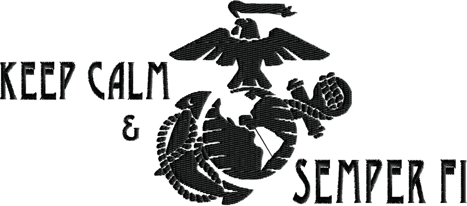US Marine Corps Keep Calm & Semper FI logo by ChiefsThreads
