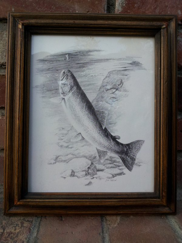 Leon Parson Pencil Drawing Prints Vintage Wildlife Outdoors