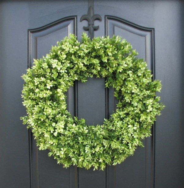 Boxwood Wreaths Spring Faux