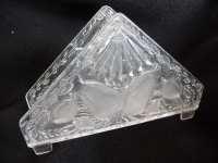 vintage Napkin Holder clear plastic Fruit by myvintagedreams