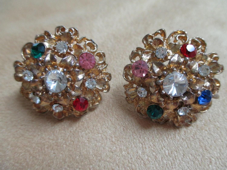 Cozy Vintage Costume Jewelry Rhinestone Choker Necklace