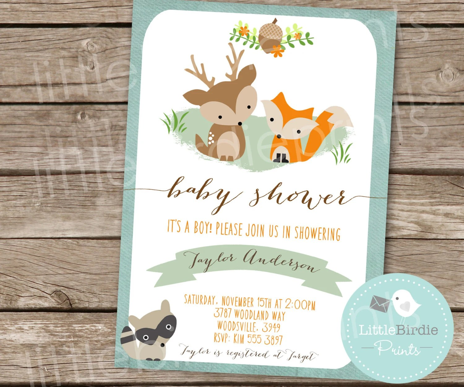 Woodland Baby Shower Game Baby Animal Names Woodland Baby