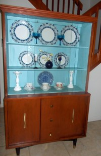 Mid Century Modern China Cabinet. China Cabinet. by ...
