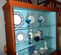 Mid-Century China Cabinet. China Cabinet. Turquoise Glass ...
