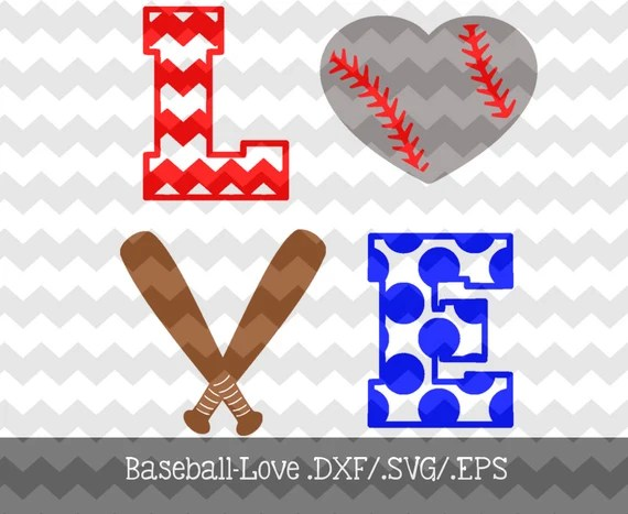 Download Baseball Love Decal Files .DXF/.SVG/.EPS for by ...