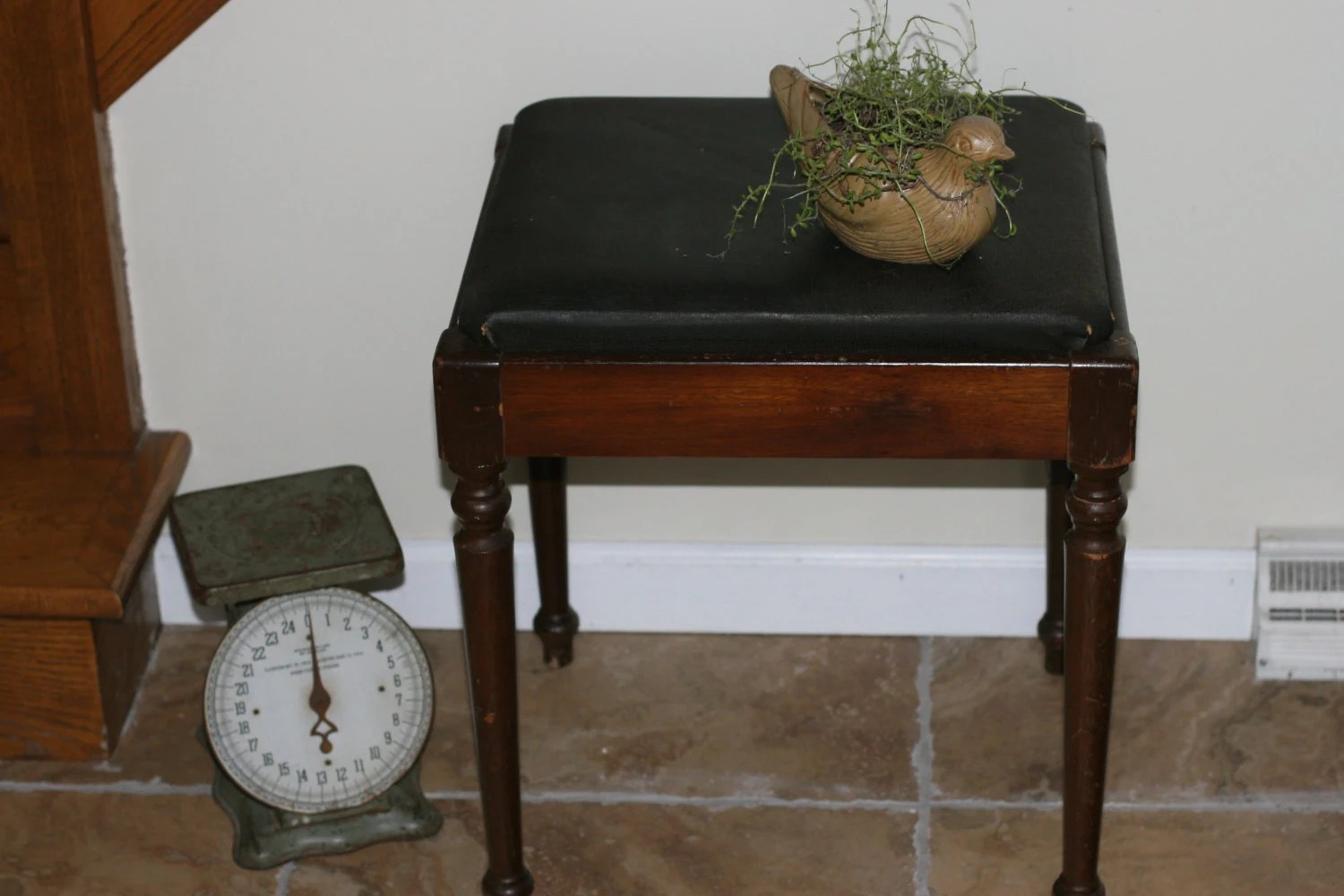1950s Singer Sewing Stool Antique Stool Storage Bench