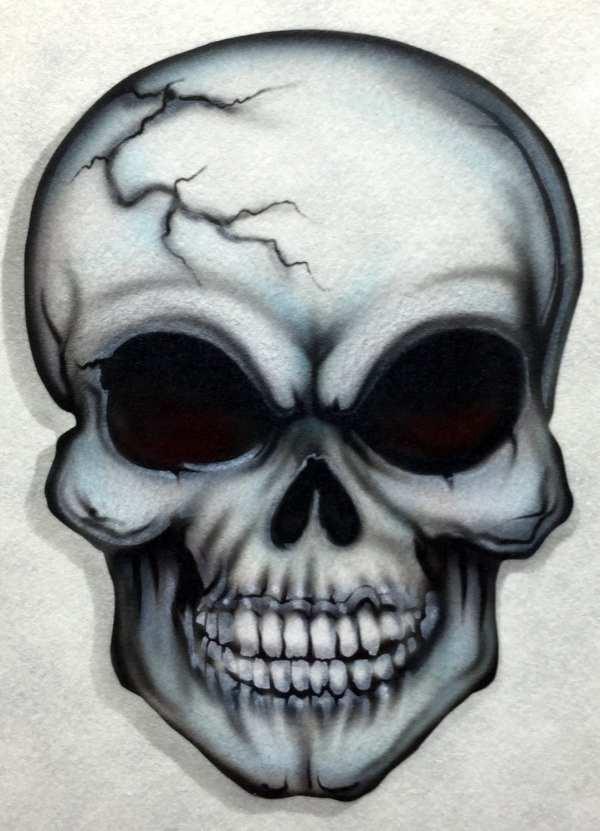 Skull Airbrush Stencils