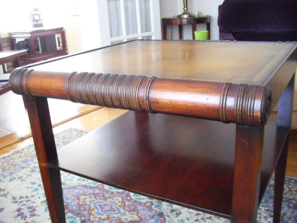 Pair Of Large Vintage Mid-Century Stickley Mahogany End