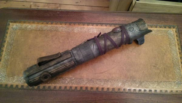 STEAMPUNK Saber, THE CHOSEN ,  Lightsaber style rustic saber ! fan made cosplay prop