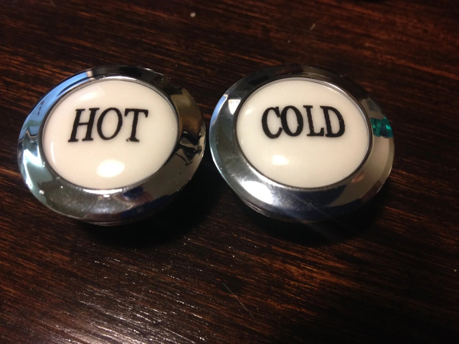 Hot And Cold Buttons Faucet Labels By Twovitalatl On Etsy