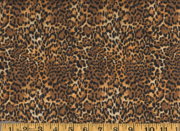 Animal Print Cotton Fabric by the Yard