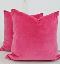 Pink Velvet Pillow CoverPink Velvet Pillow Cover Pink