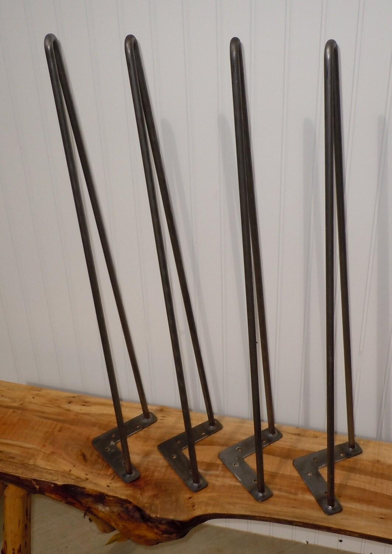 Raw Steel Hairpin Table Legs