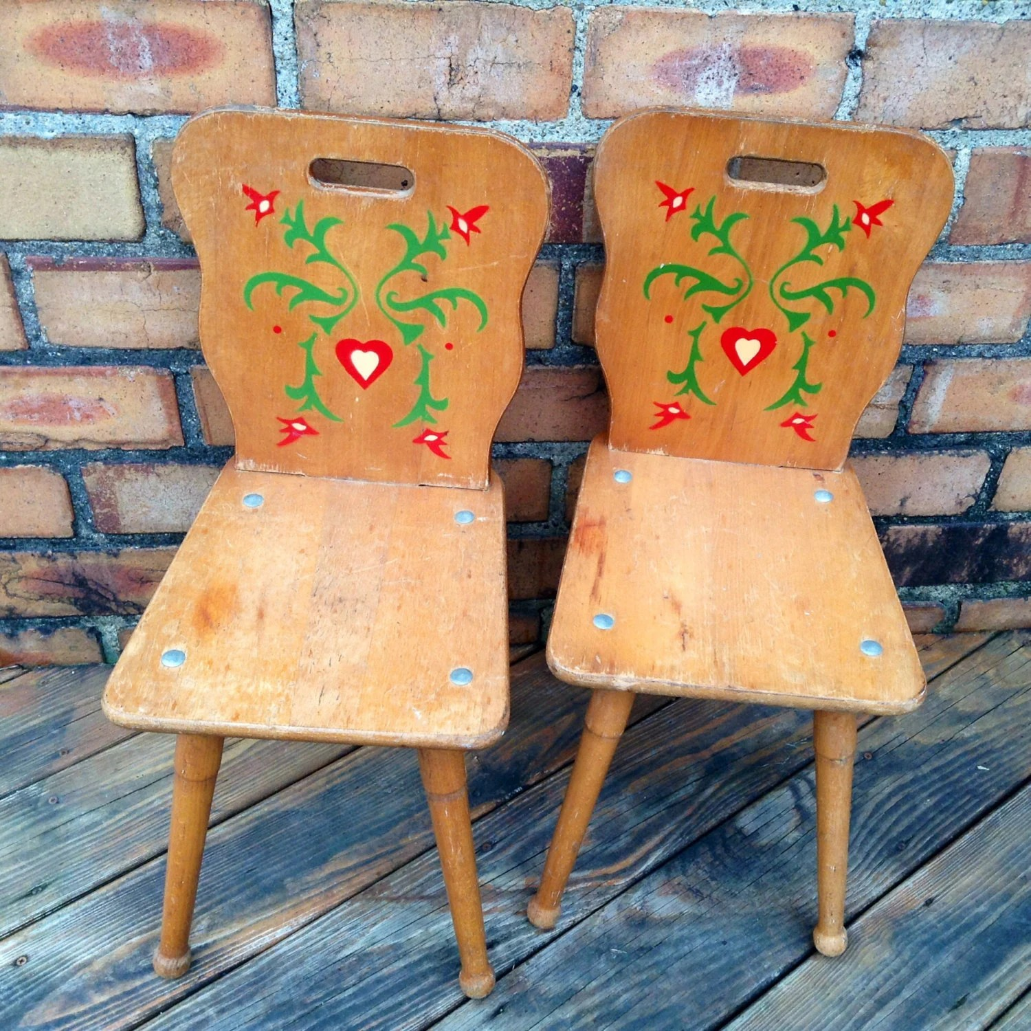 solid oak pressed back chairs desk chair armrest very rare pair of wood pennsylvania dutch folk