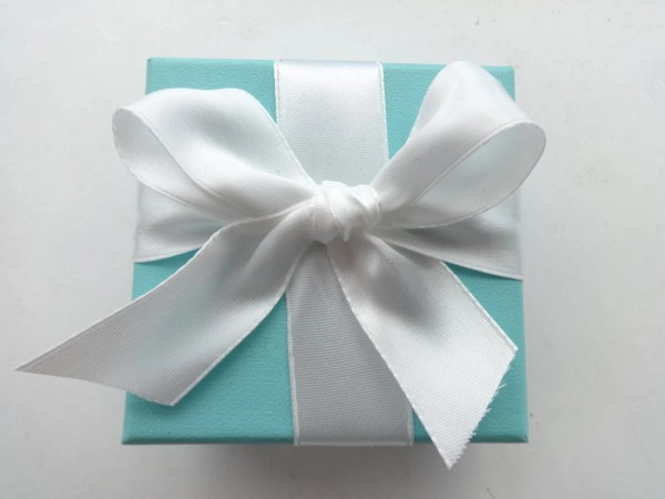 Tiffany & . Authentic Blue Cardboard Square Jewelry Box