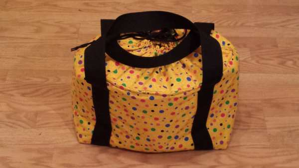 Insulated Crock Pot Carrier Multi Colored Polka Dots