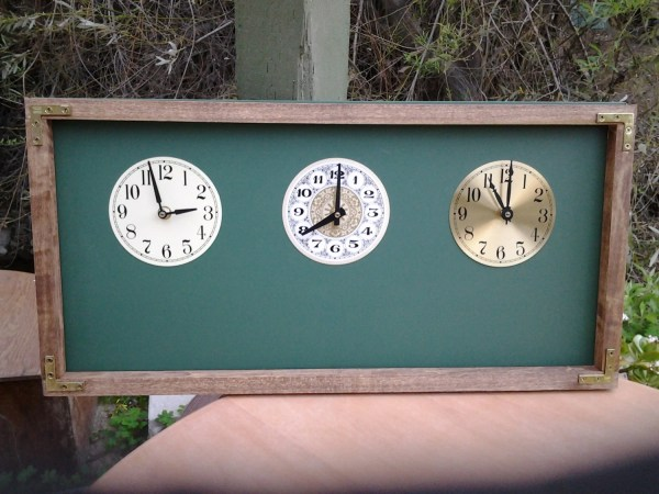 Original Time Zone Chalkboard Clock With 3 4 Clocks