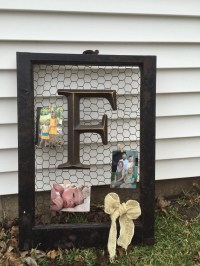 Items similar to Old window picture frame with chicken ...