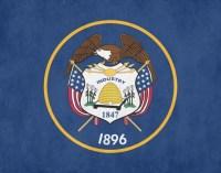 Utah State Flag Print Wall Art Aged or Original Home. Office