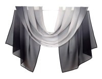 scarf silk chiffon gray gradient scarf women by ...