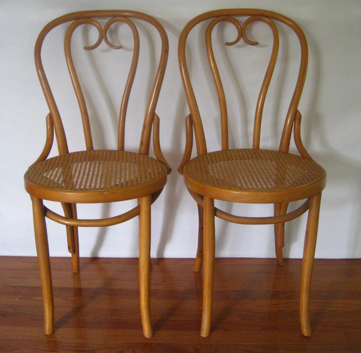 bentwood cane seat chairs colored resin adirondack reserved for shauna 2 vintage cafe bistro