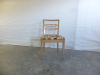 Blonde Wood Upholstered Chair,Ladder Back Chair, Side ...