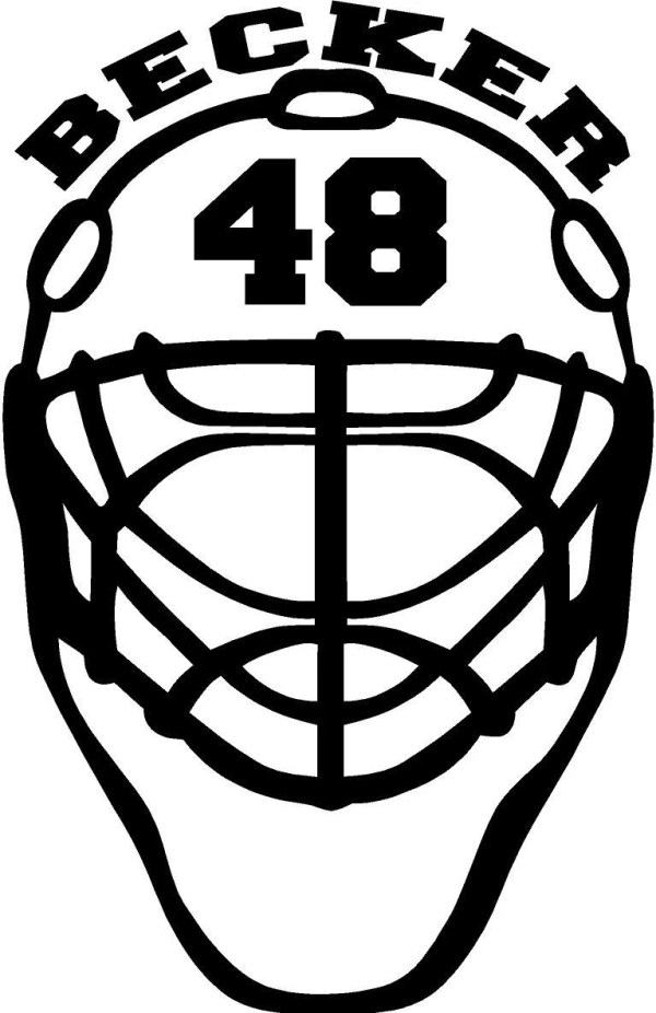 Items similar to Goalie Mask Decal on Etsy