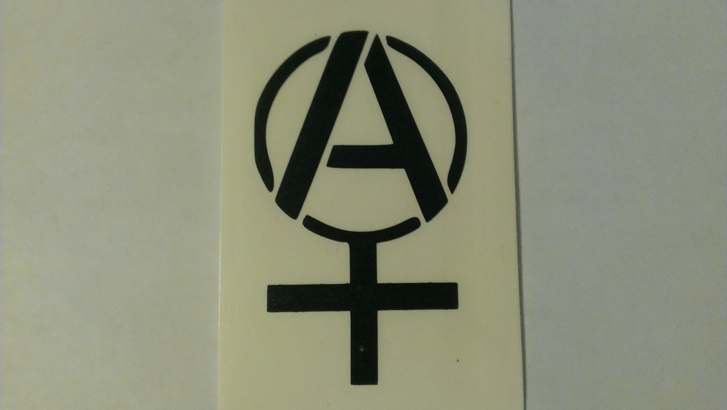Anarcha Feminist Symbol Vinyl Decal