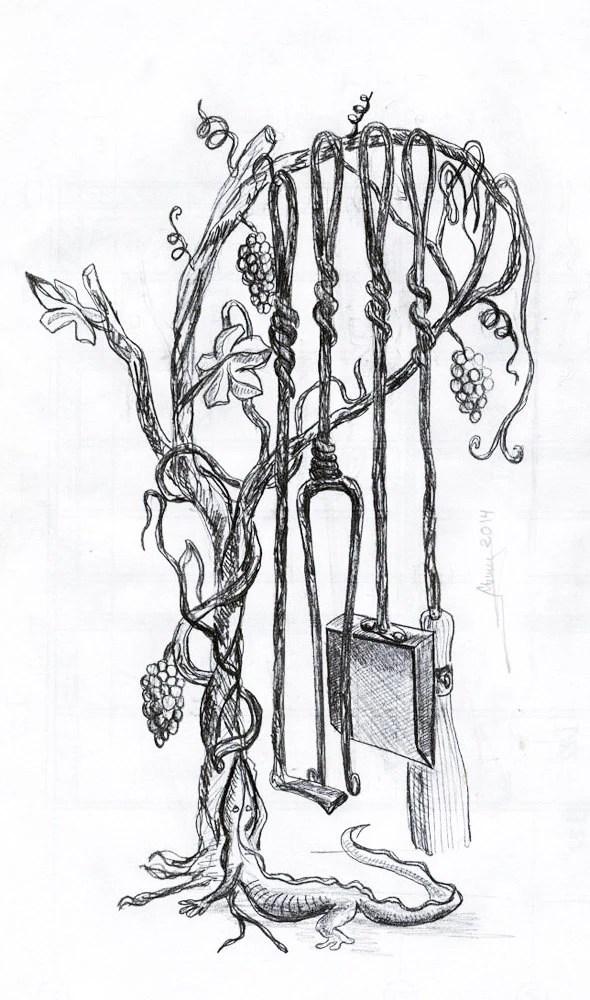 Wrought Iron Sketche. Blacksmith. Fireplace by AskoldEroticArt