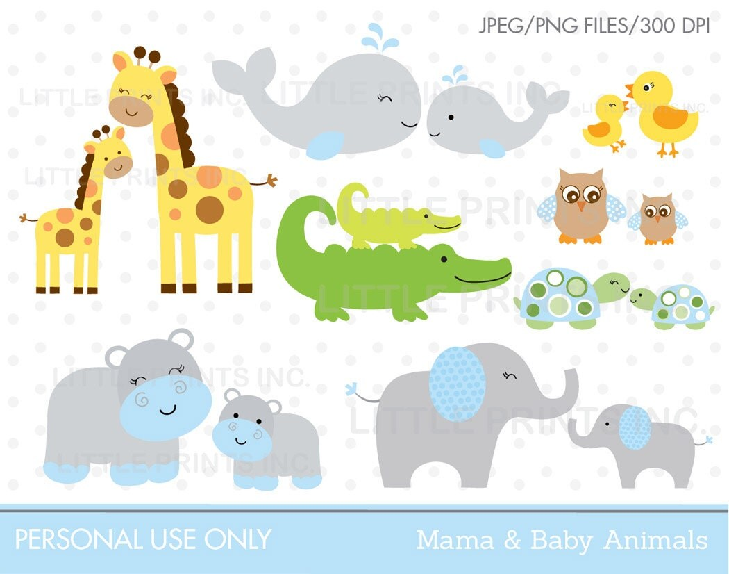 Jungle Animal Clipart Safari Animal Clipart Safari Baby