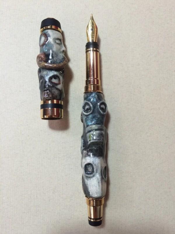Gas Masks Steampunk 24kt Gold Fountain Pen Bizarredollworks